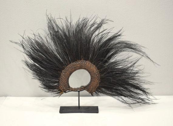 Papua New Guinea Headdress Abelam Cassowary Bird Feathers Headdress
