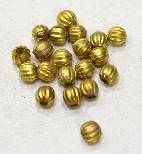 Beads India Brass Fluted Beads 8mm