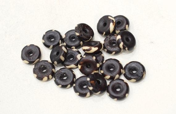 Beads Indonesian Bone Spiral Beads 14-15mm