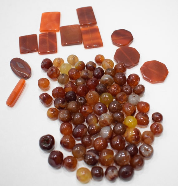 Beads Carnelian Assorted Bag Chinese Beads 12mm - 38mm