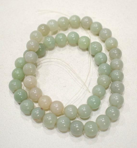 Beads Chinese Green Jade Round Beads 8-9mm