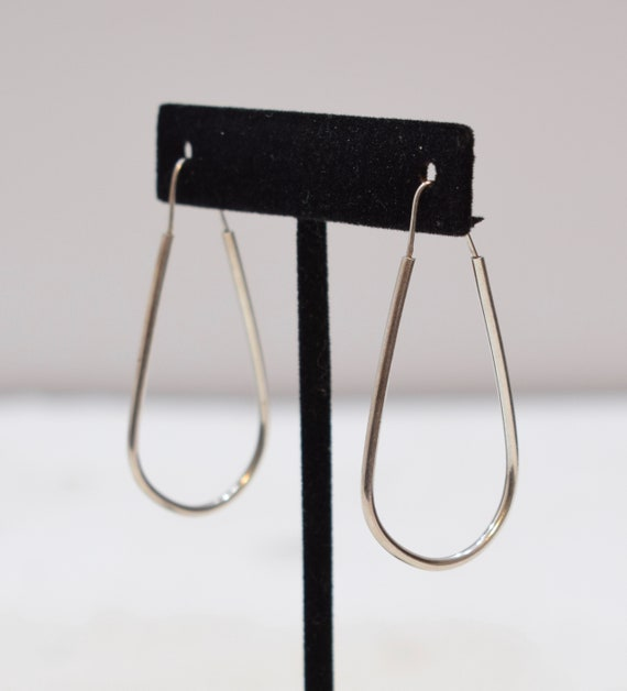 Earrings Sterling Silver Oval Hoop Earrings 52mm