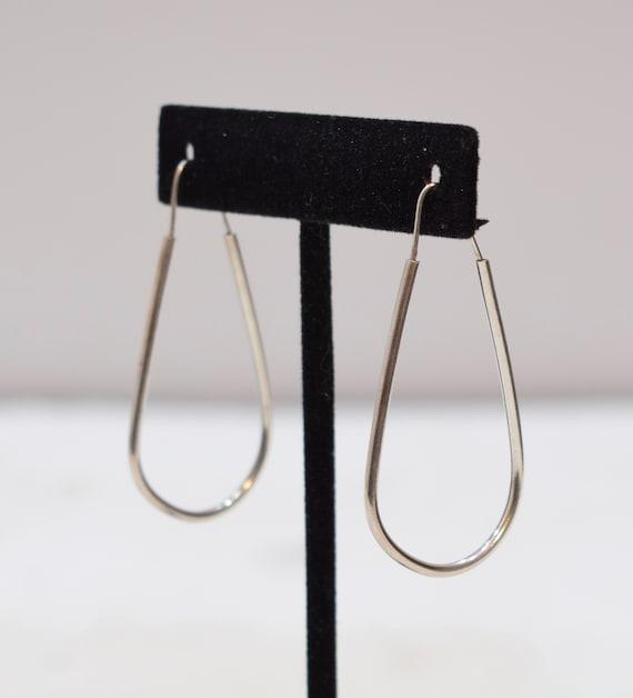 Earrings Sterling Silver Oval Hoop Earrings 46mm