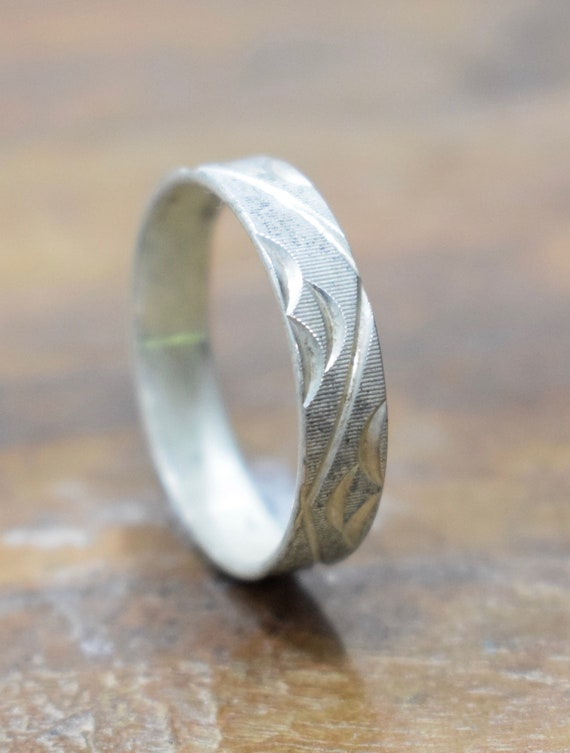 Ring Sterling Silver Incised Band Ring