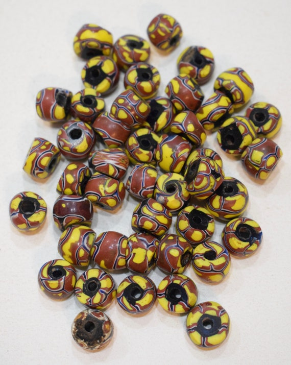 Beads Trade Assorted Millefiori African Vintage Trade Beads 12mm