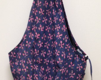 India Blue Shoulder Bag Handmade Cotton Hand Sewn Colorful Hand Stamped Fabric Gift for Her India Fun Shoulder Bag