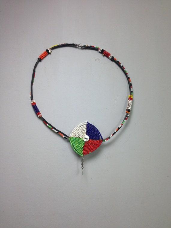 African Choker Beaded Masai Women Men Handmade Red Blue Yellow Beads Tribal Jewelry Women Men Necklace Choker