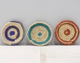 African Basket Botswana Natural Colors Food Basket Set of 3