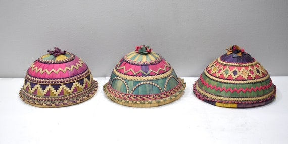 Baskets Indonesian Colorful Food Cover Baskets