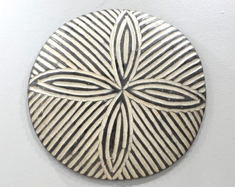 African Shield Cameroon Wood Etched Decorative Shield