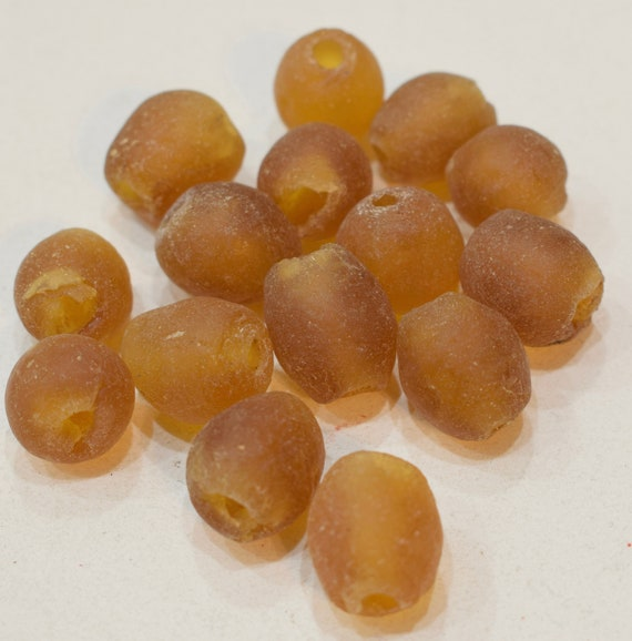 Beads Recycled Gold Round Glass African Recycled Glass Beads 18mm