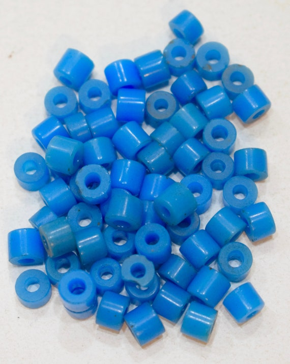 Beads African Blue Small Turquoise Pony Beads 8mm