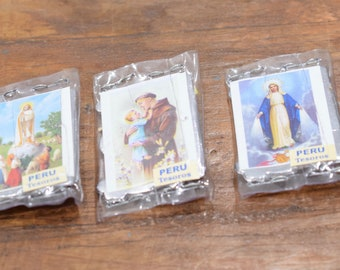 Christian Good Luck Packets with Saints Seeds Brooms