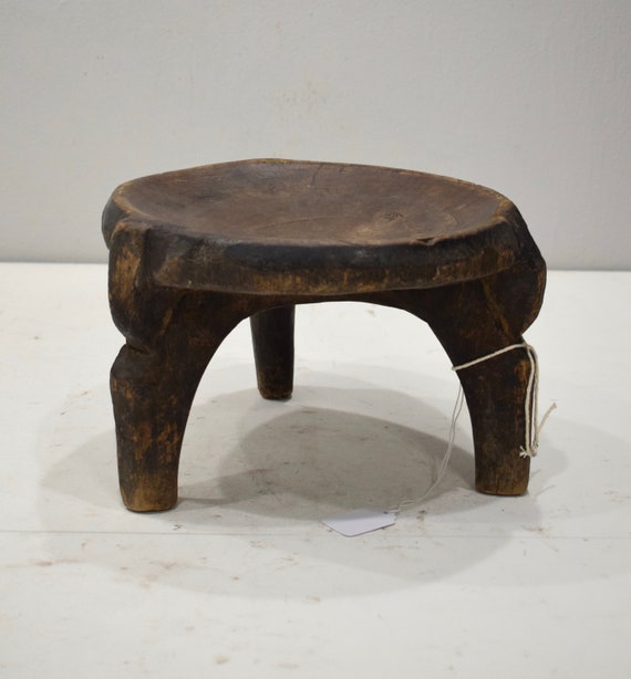 African Stool Gogo Tribe Tanzania Carved Wood Prestige Stool