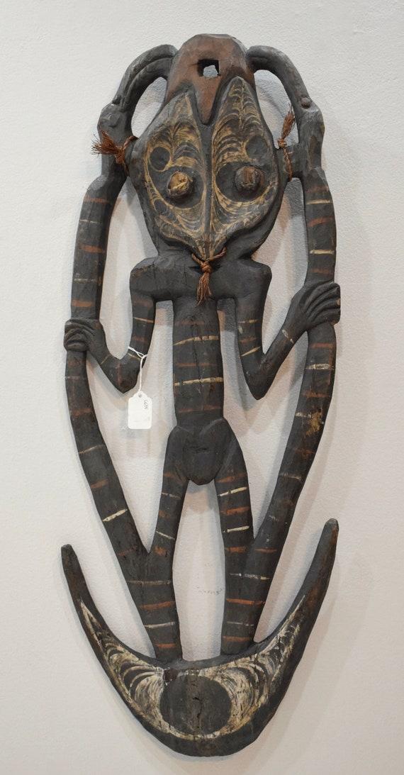 "Papua New Guinea Statue Hook Maprik Sepik River Statue 33"""