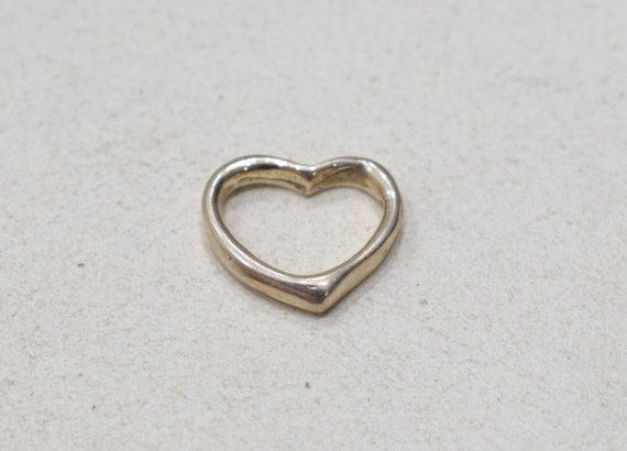 Beads Sterling Silver Floating Heart 16mm