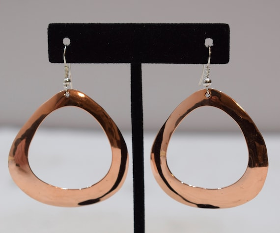 Earrings Plated Copper Oval Round Dangle Earrings 60mm