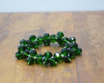 Bracelet Dark Green Crystal Stretch Bracelet