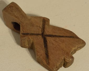 """Beads Amulet Wood Animal Protection Farmers Middle East Amulet 4"""""""
