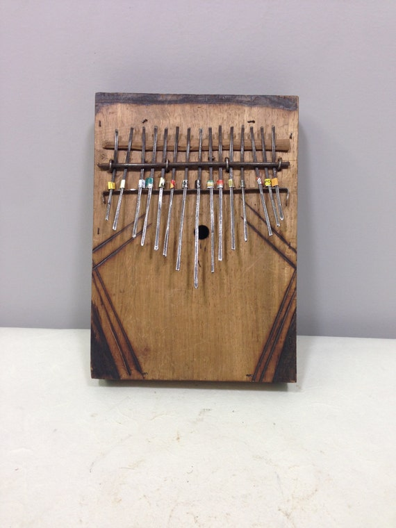 African Thumb Kalimbas Wood Carved Piano