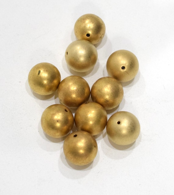 Beads Matte Gold Round Beads 16mm