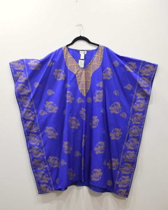 Shirt Royal Blue Dashiki
