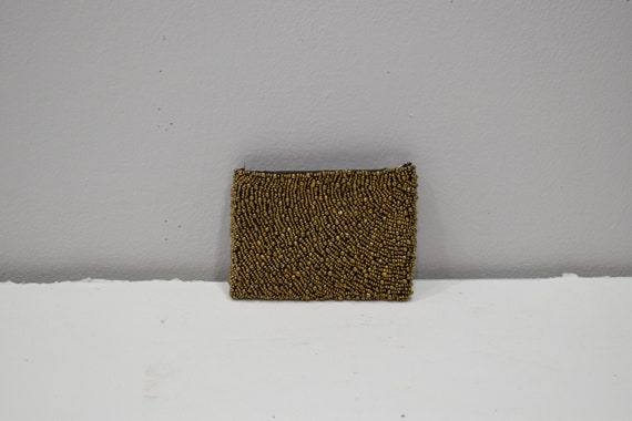 Purse Beaded Bronze Small Clutch Purse