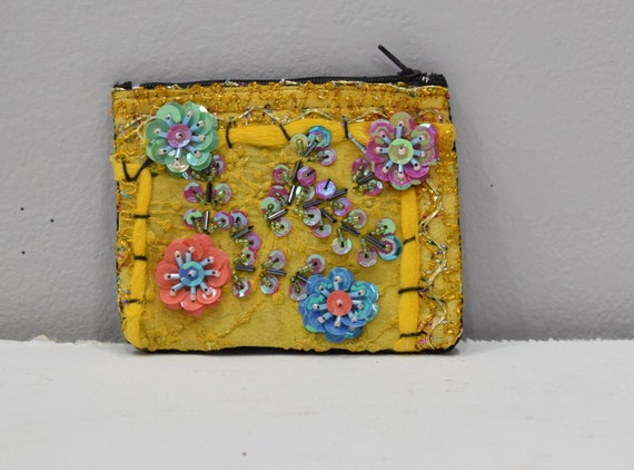 Coin Purses Assorted Sequined Flower Purse