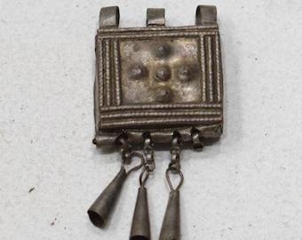 Beads Silver Ethiopian Telsum Box Pendants 24mm - 40mm