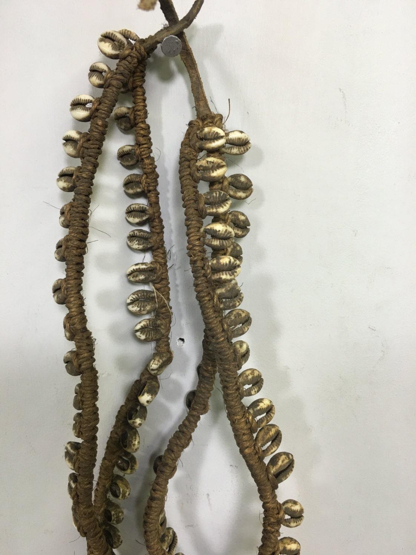 African Necklace Belt Cowrie Shell Woven Kamba Triba Kenya Handmad Handwoven Beauty Currency Adornment Wealth Fertility Men Women Necklace