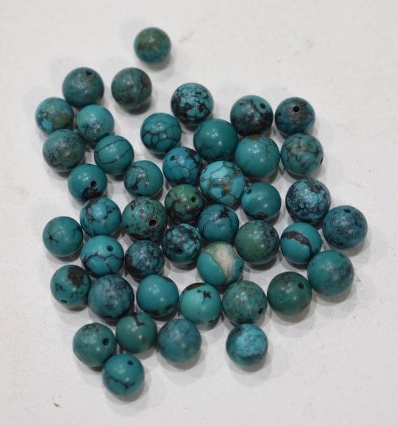 Beads Chinese Turquoise Round Beads 6-8mm