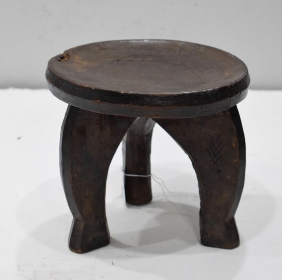 African Wood Stool Gogo Tribe Tanzania Carved Status Prestige Chair Gogo Stool