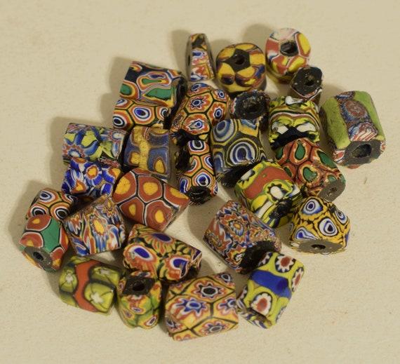 Beads Trade Beads Assorted Bag Rectangular African Trade Beads 10mm -16mm