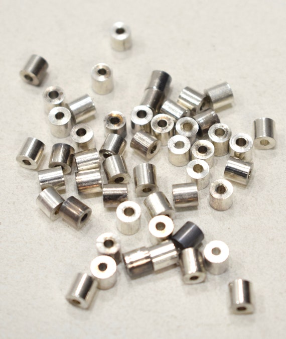 Beads Chrome Silver Cube Beads 5mm