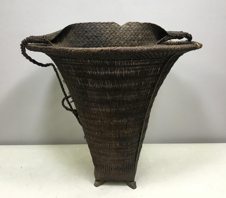 Basket Cane Naga People Nagaland India Work Carrying