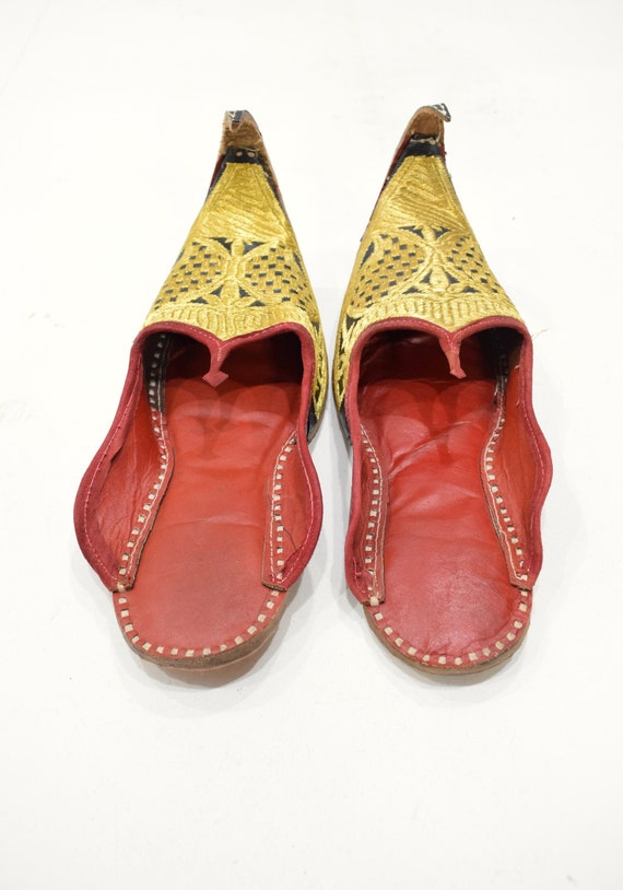 Shoes Gold India Red Leather Wedding  Shoes #1