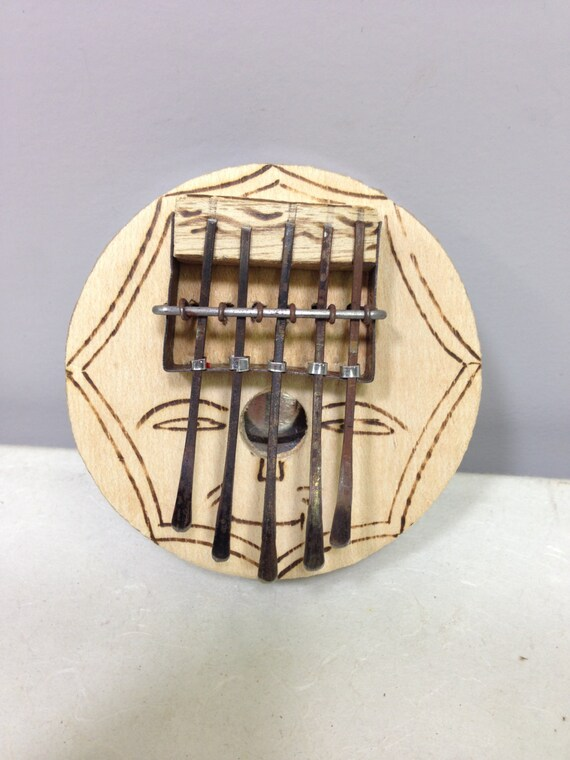 "Piano African Piano Nescafe Recycled Thumb Piano Handmade ""Kalimba"" Musical Piano Tines Thumbs Fun Gift f Tunes"