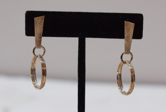 Earrings Brass Hoop Ring Post Earrings 42mm