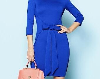 Cobalt blue dress Every day blue dress for women Spring dress Office clothing Jersey autumn dress fashion dress royal blue dresses