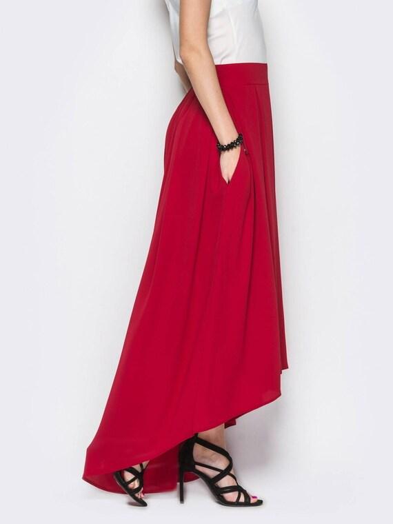 rode lange rok