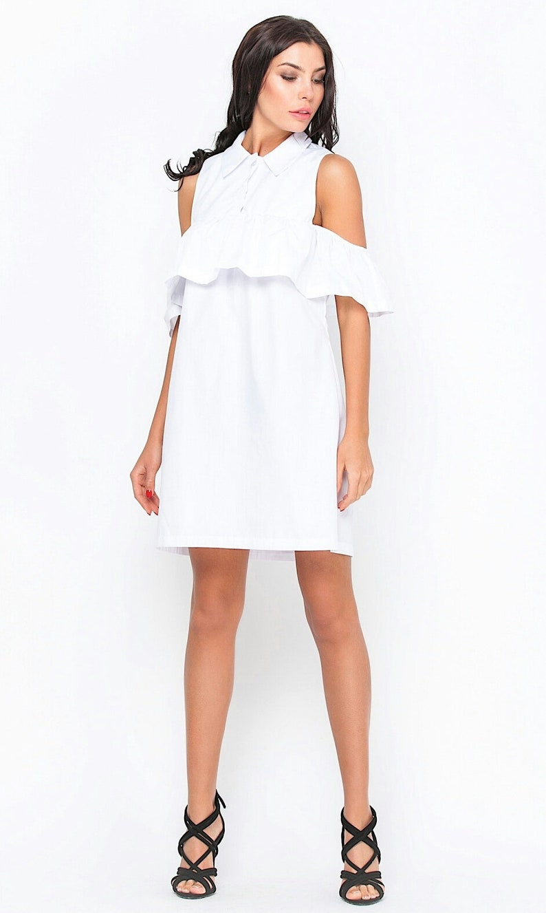 Weißes Kleid Sommerkleid Strand weißes Kleid Sommer kleidung für Frau Tag  zu Tag Kleid Mode Kleid