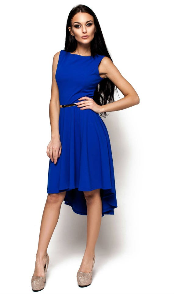Robe soiree bleu cobalt