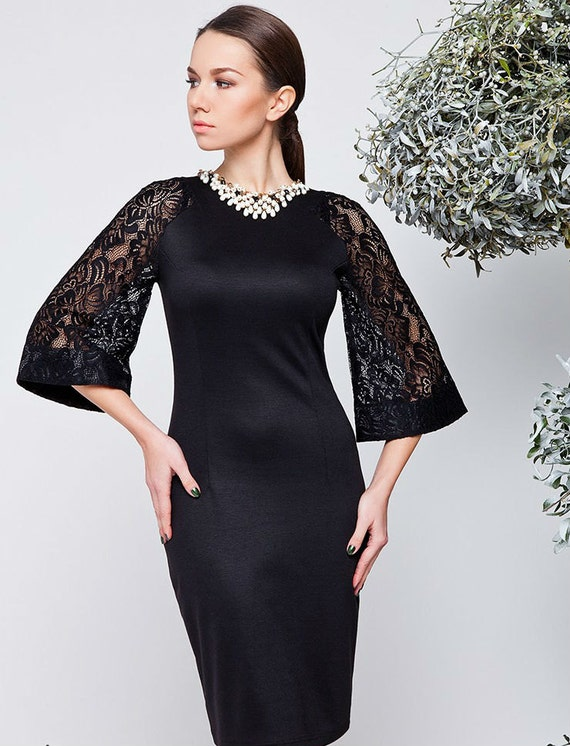 Black dress Combined dress Christmas dress Autumn dresses Winter dress Occasion dress for women Evening Dress halter Elegant Spring dress