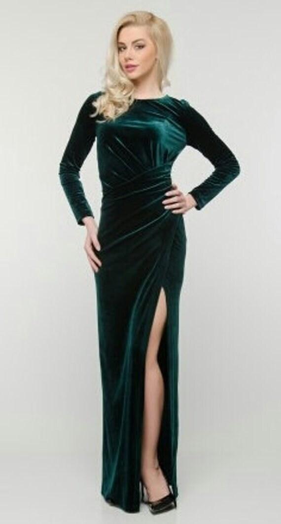 Dark Green Elegant Dress