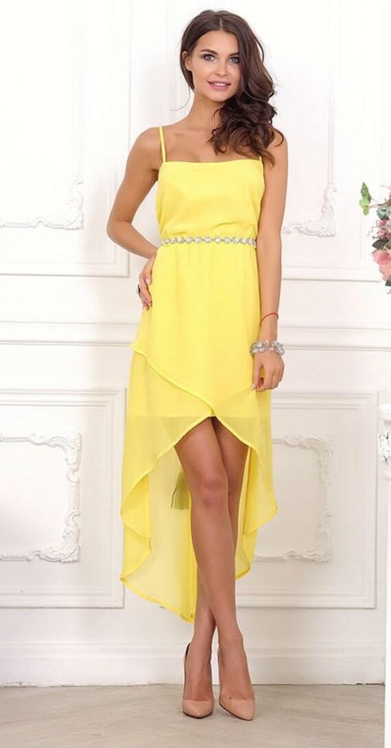 Gelben Kleid Brautjungfer Kleid Prom Kleid Gelb Hochzeit Kleid