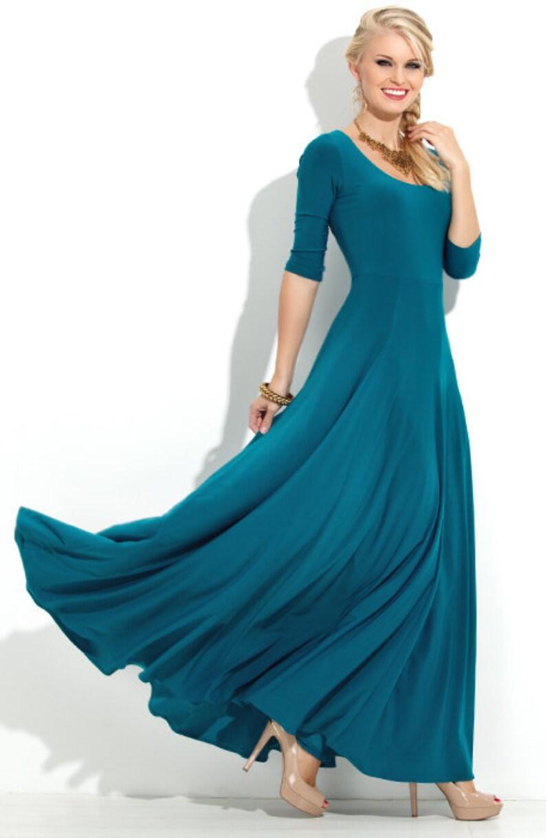 Maxi Jurk Turquoise.Maxi Jurk Jersey Jurk Turquoise Jurk Voor Vrouwen Trouwjurk Etsy