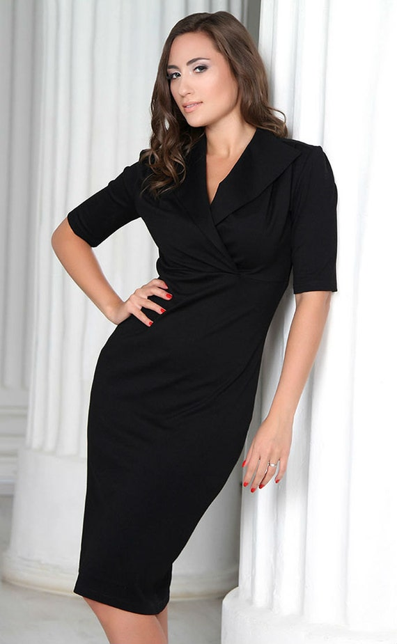 Short Black Elegant Evening Dresses