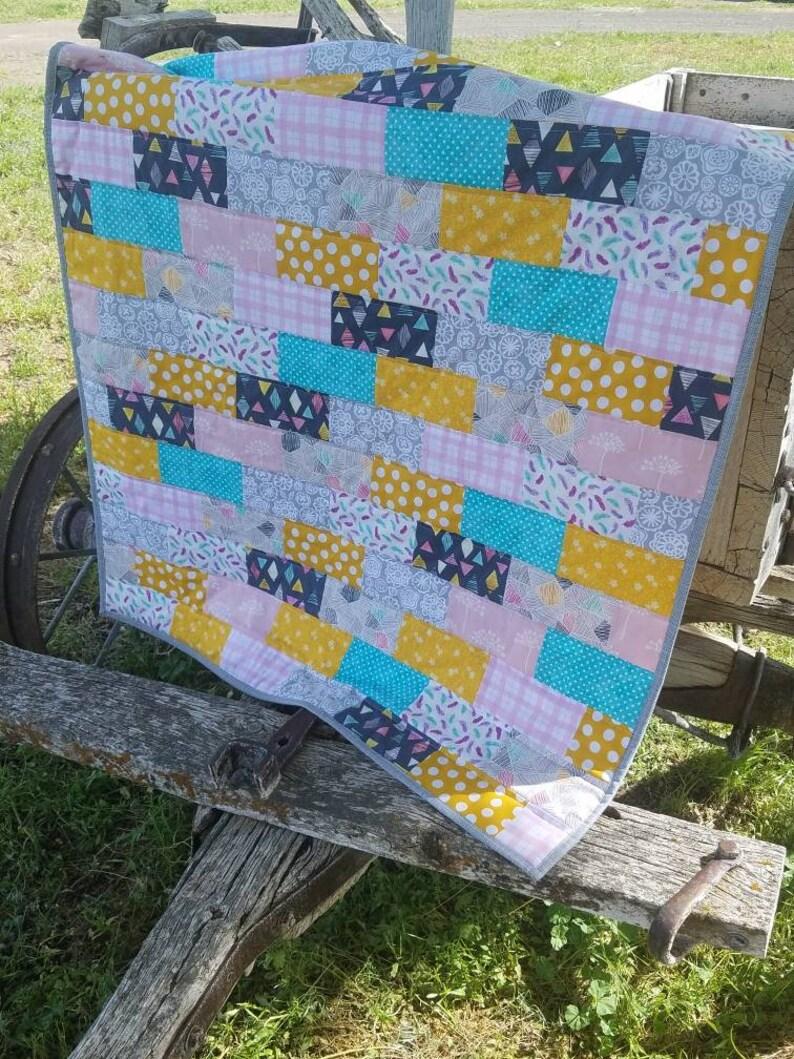 Baby quilts handmade faux chenille baby quilt baby boy blanket crib quilt dear stella owls owl woodland animals orange navy gray yellow