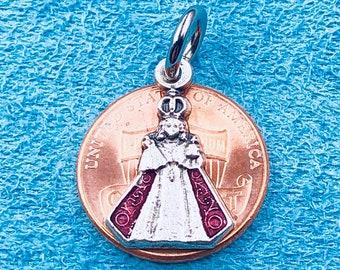 7f0a052e494 Small Infant of Prague Medal,Infant of Prague Rosary Medal,Infant of Prague  Charm,Infant of Prague Bracelet Medal,Catholic Medal