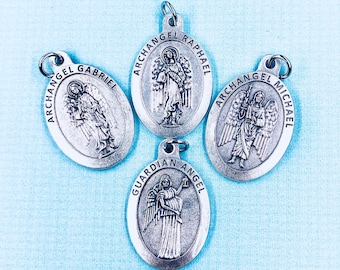 Large Archangel Medals Protection Guidance Healing Peace Medals Archangel Michael Raphael Gabriel Guardian Angel Medals